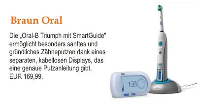 """Die """"Oral-B Triumph mit SmartGuide"""""""