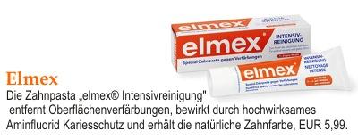 """Die Zahnpasta """"elmex® Intensivreinigung"""""""